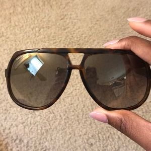Authentic Gucci Havana Aviator Sunglasses